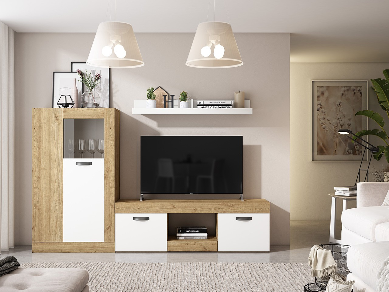 Muebles modernos para tv y escritorio for Mueble tv barato