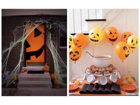 Decoración Halloween : puerta calabaza
