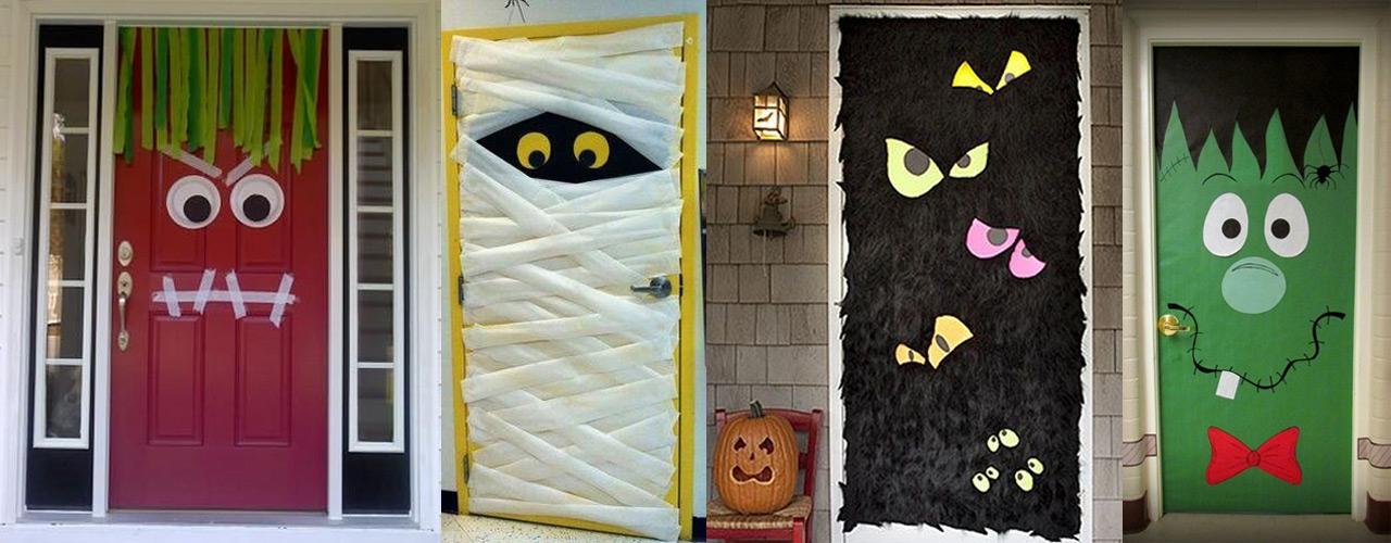 decoracin halloween puertas