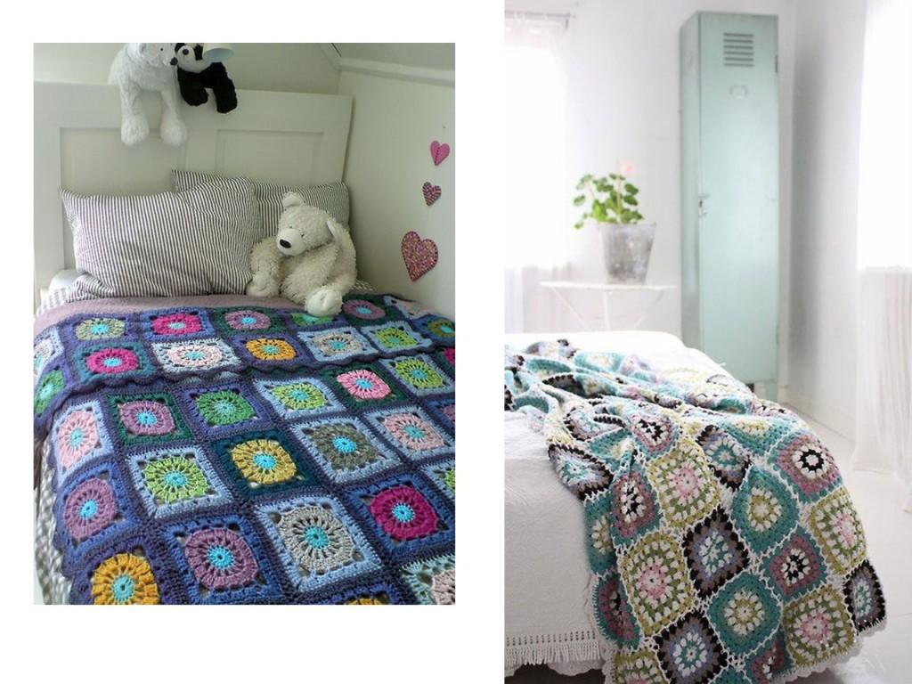 10 propuestas para decorar tu casa con crochet - Mantas con fotos ...