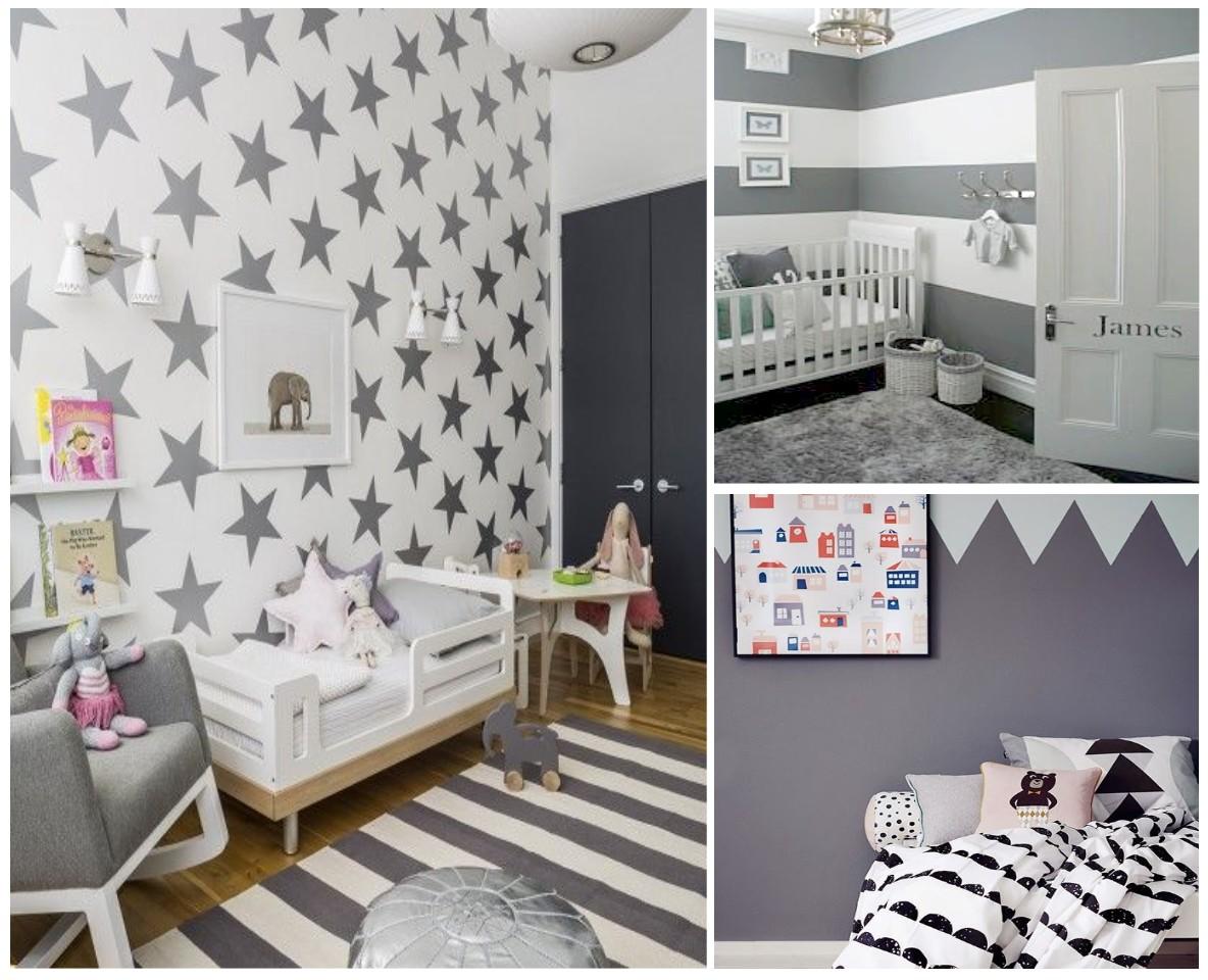 Habitaciones infantiles el gris no tiene porque ser for Dormitorio gris y blanco
