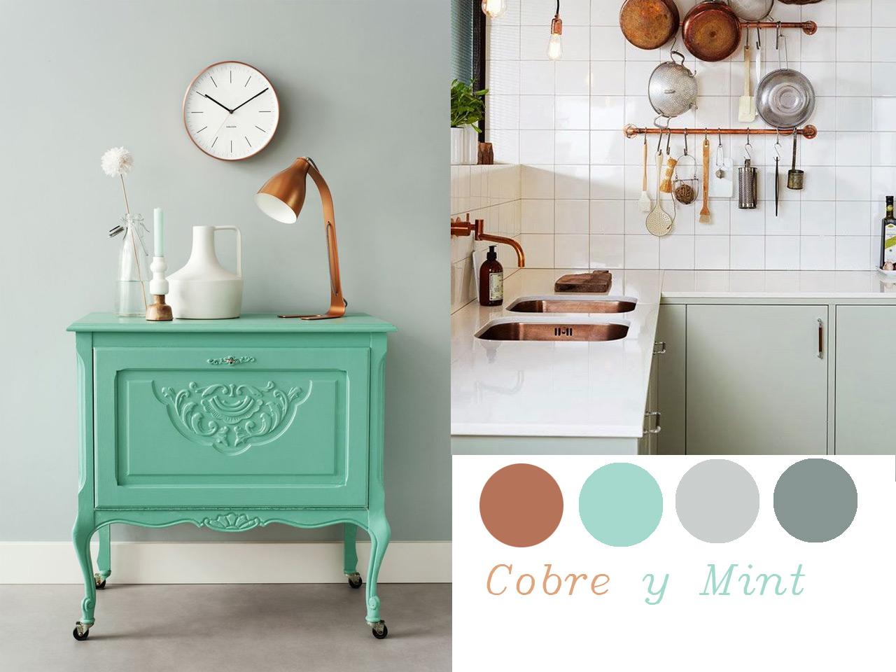 14 combinaciones impactantes de decoraci n con cobre for Colores que pegan con el gris