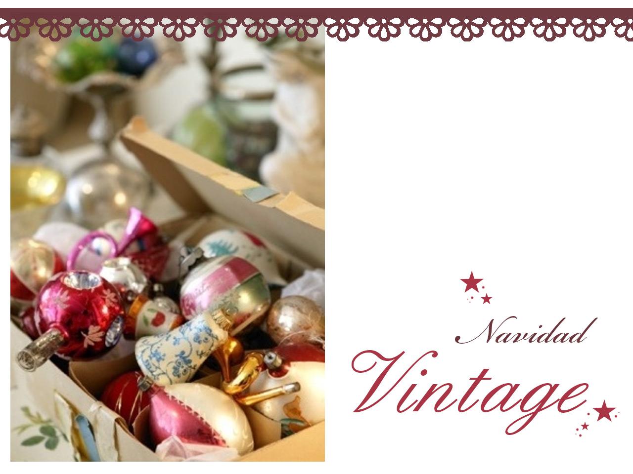Decoraci n vintage para navidad ideas para decorar for Decoracion para navidad 2014