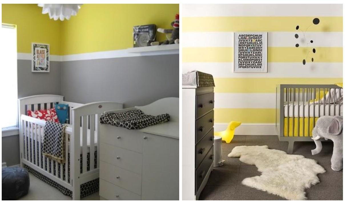 Habitaciones infantiles el gris no tiene porque ser - Habitaciones pintadas con rayas ...