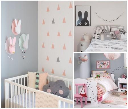 Habitaciones infantiles el gris no tiene porque ser aburrido - Habitacion bebe nina ...