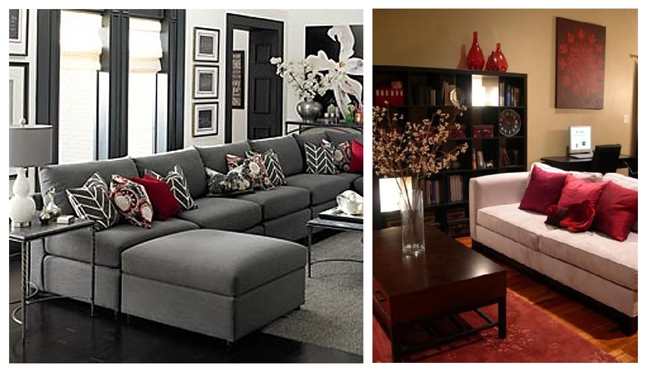 Tendencias decoraci n 2015 los rojos intensos for Sofas grises decoracion