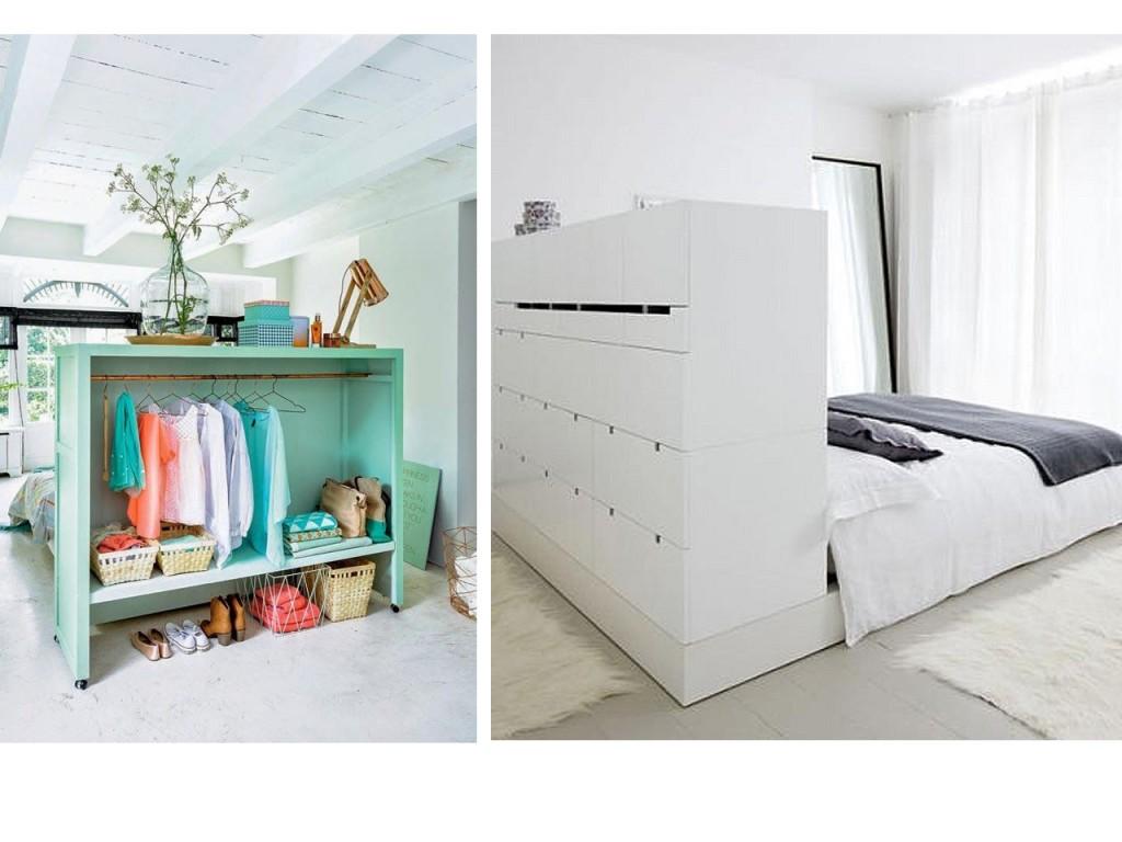 Dividir espacios abiertos con trucos decorativos - Ambientes de dormitorios ...