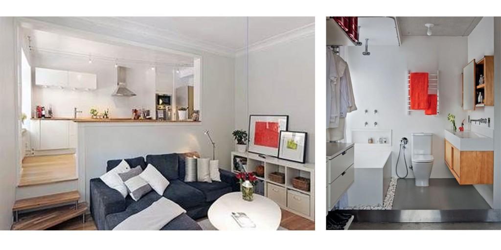 Dividir espacios abiertos con trucos decorativos Decoracion de espacios abiertos en casa