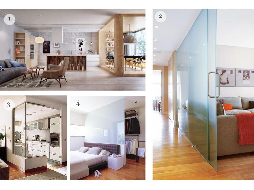 Dividir espacios abiertos con trucos decorativos for Cocinas de una sola pared