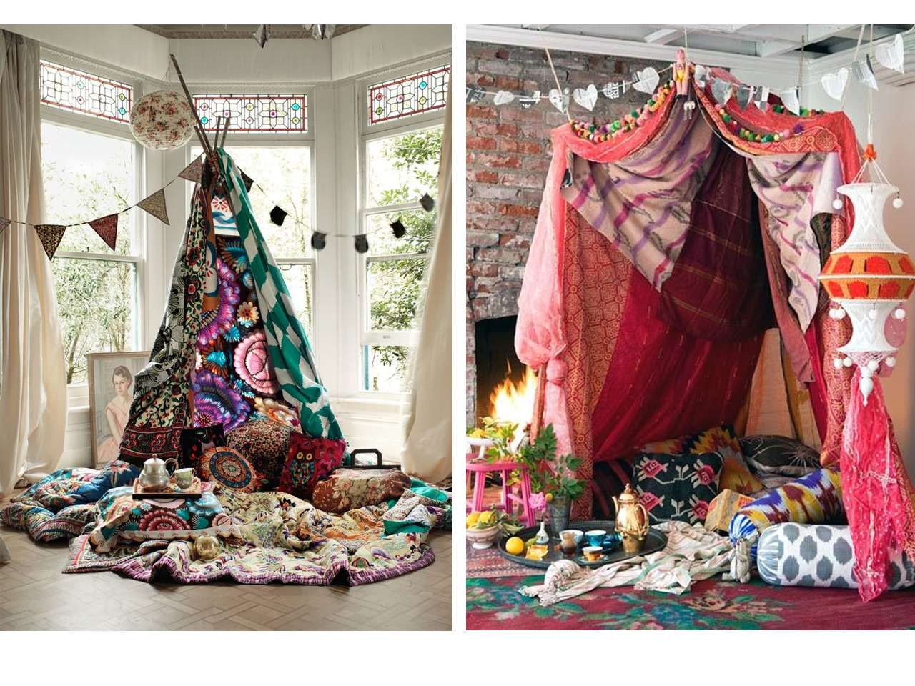 Decoraci n boho chic Adornos hippies
