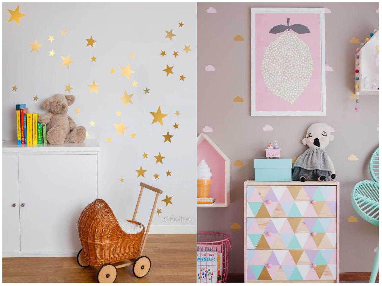 Vinilos decorativos habitaciones infantiles llenas de for Vinilos cuartos infantiles