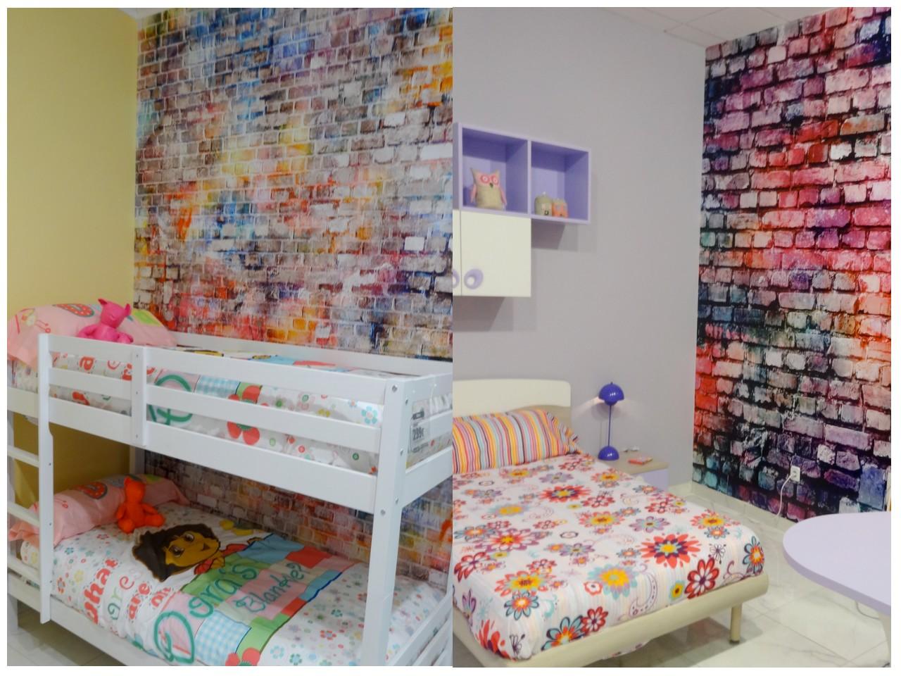 Vinilos decorativos habitaciones infantiles llenas de - Ladrillos para pared ...