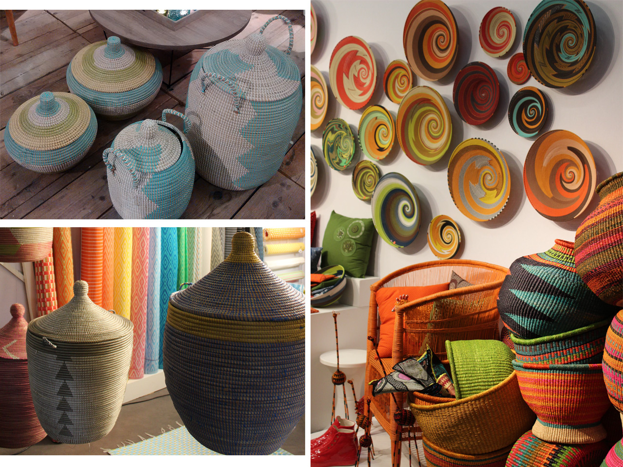 Todo vuelve decoraci m con cestas de mimbre y muebles de - Como decorar una cesta de mimbre ...