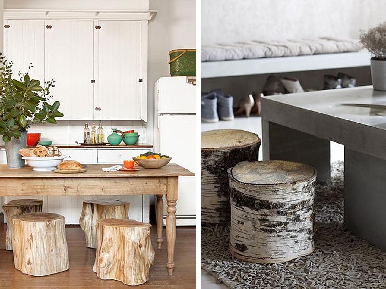 El bosque en casa ramas troncos y manualidades en madera - Madera para decoracion ...