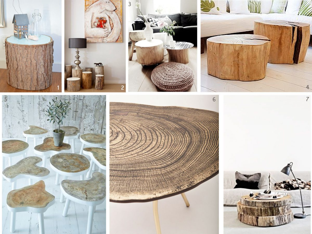 El bosque en casa ramas troncos y manualidades en madera - Tronco madera decoracion ...