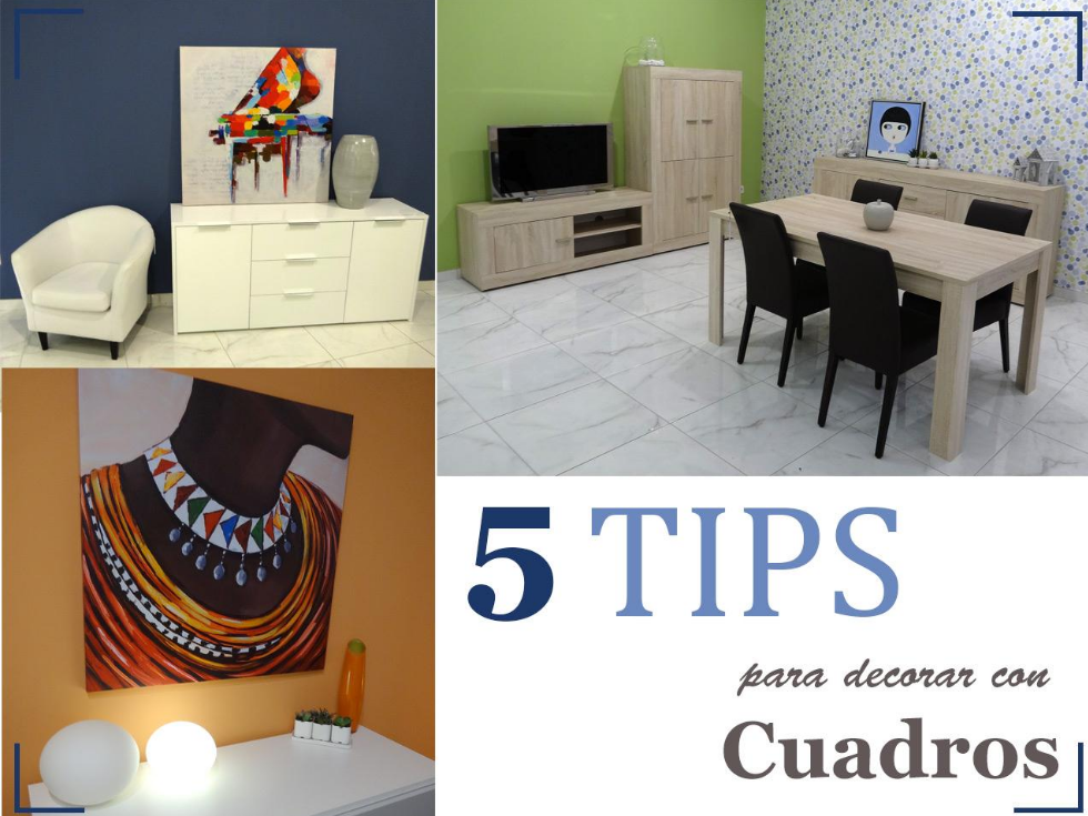5 Tips para decorar con cuadros originales