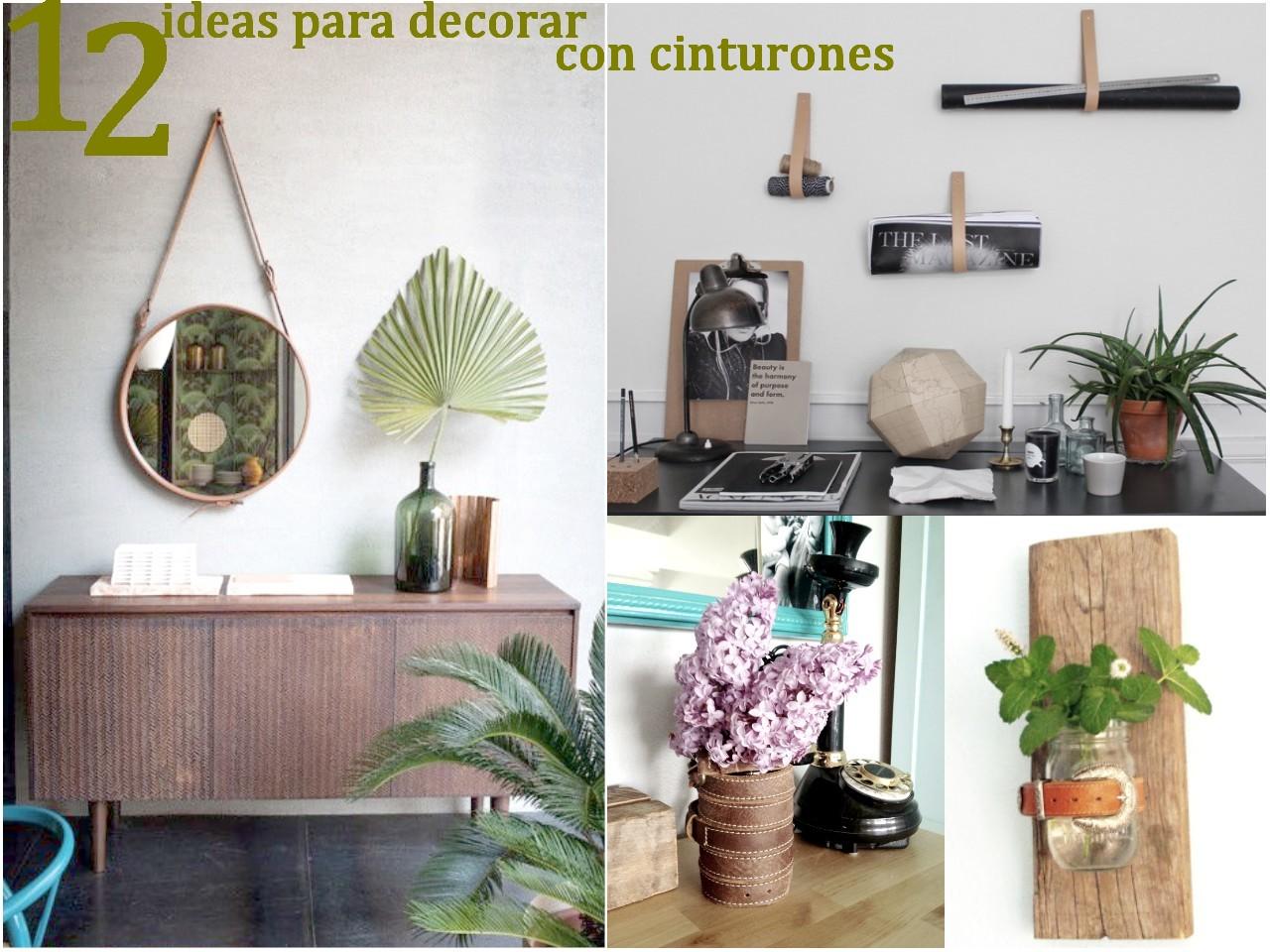 12 ideas para decorar con cinturones for Cosas de casa decoracion online