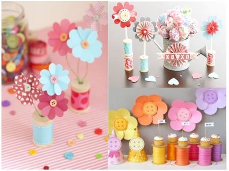 Decoración y manualidades con hilo: flores