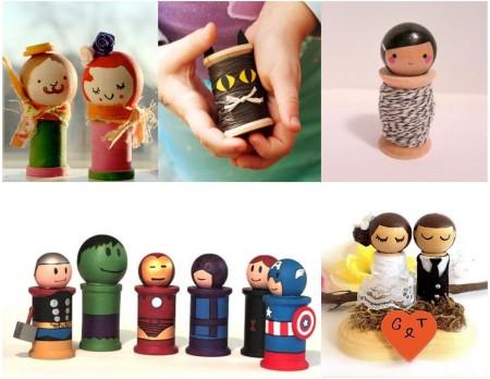 decoración y manualidades con hilo: muñecos