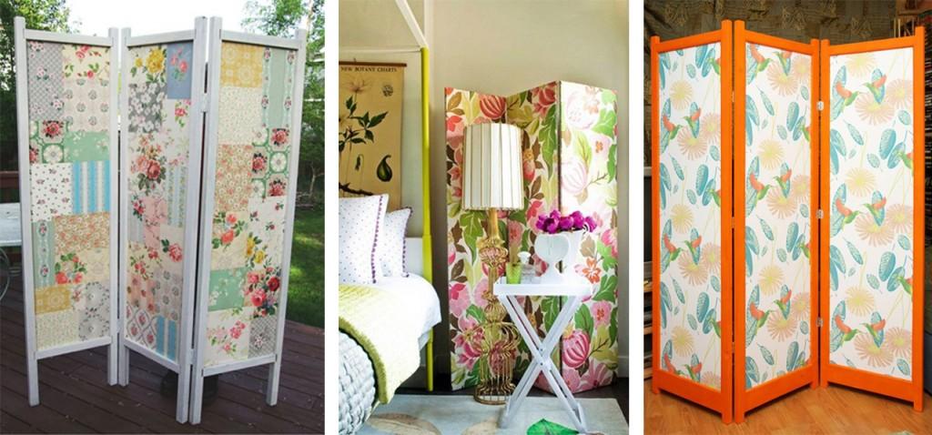 Propuestas diferentes para decorar con papel pintado for Puertas recicladas para decorar