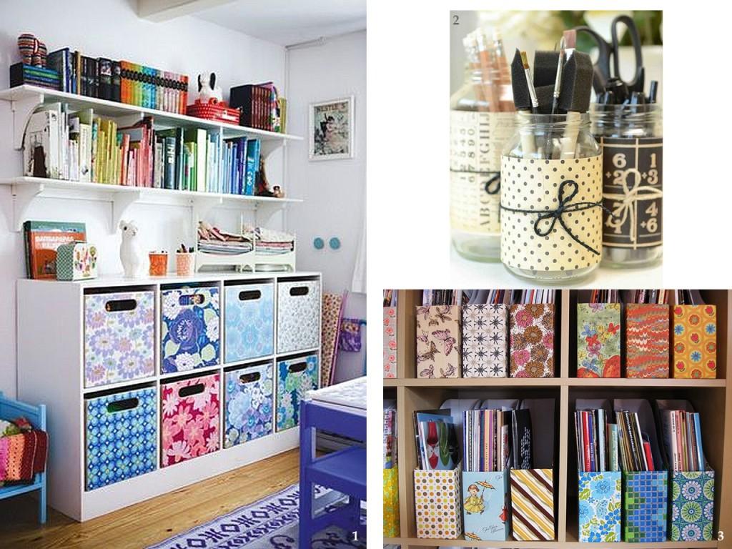 Propuestas diferentes para decorar con papel pintado - Como forrar un mueble ...