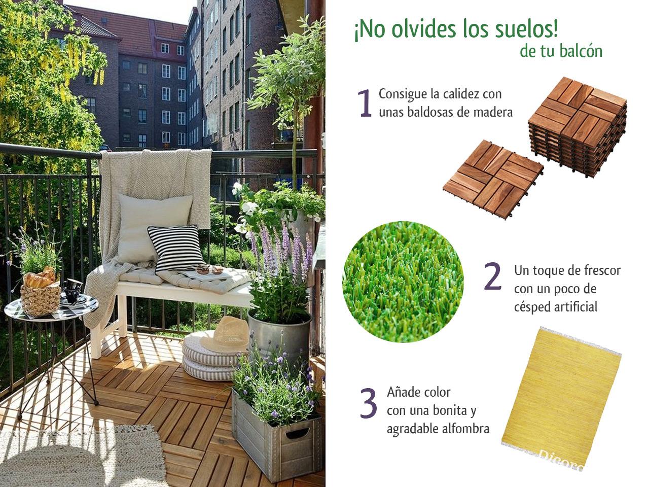 5 consejos para decorar balcones peque os con encanto for Plantas en balcones y terrazas