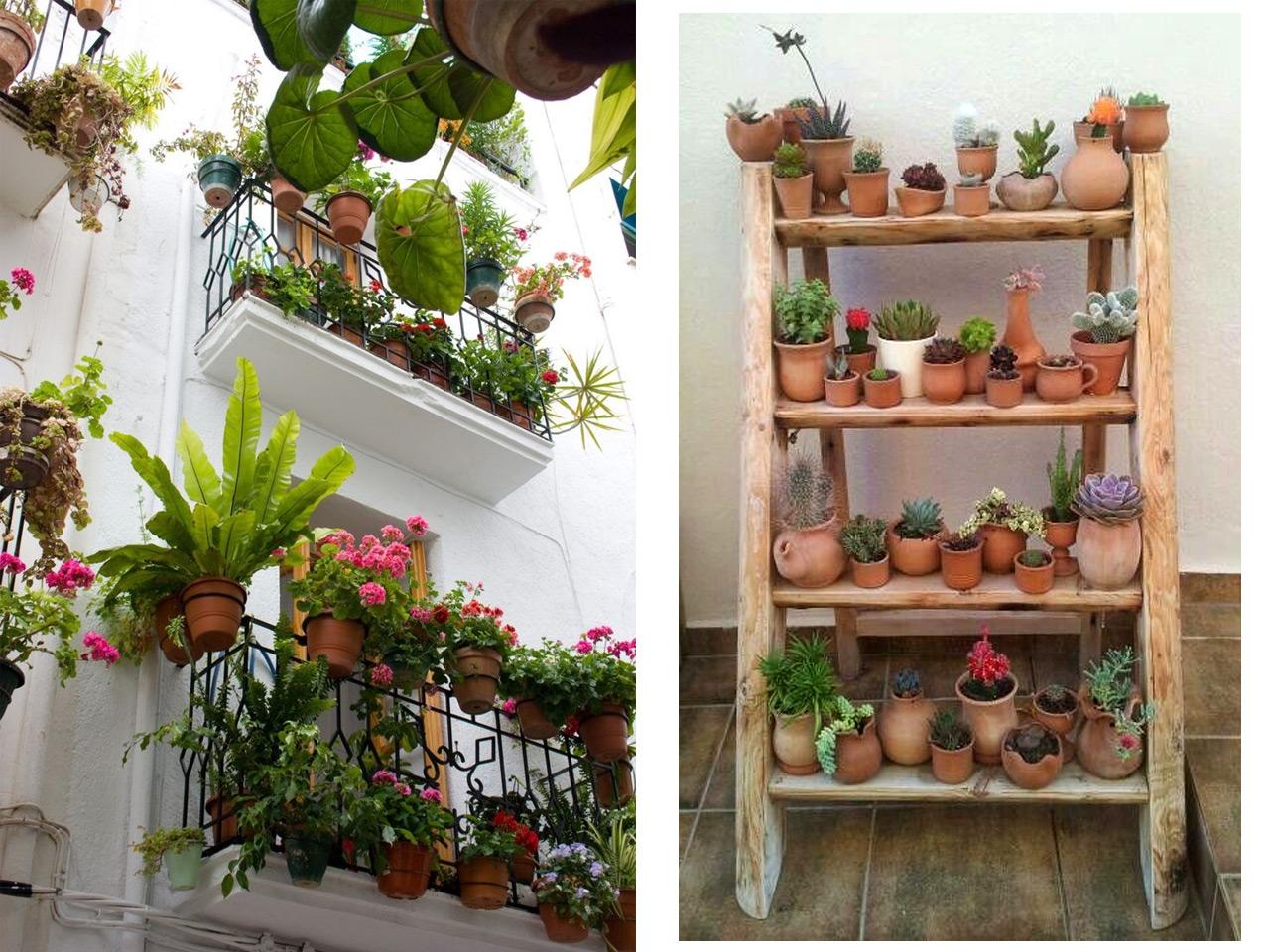 5 consejos para decorar balcones peque os con encanto - Decorar con plantas el salon ...