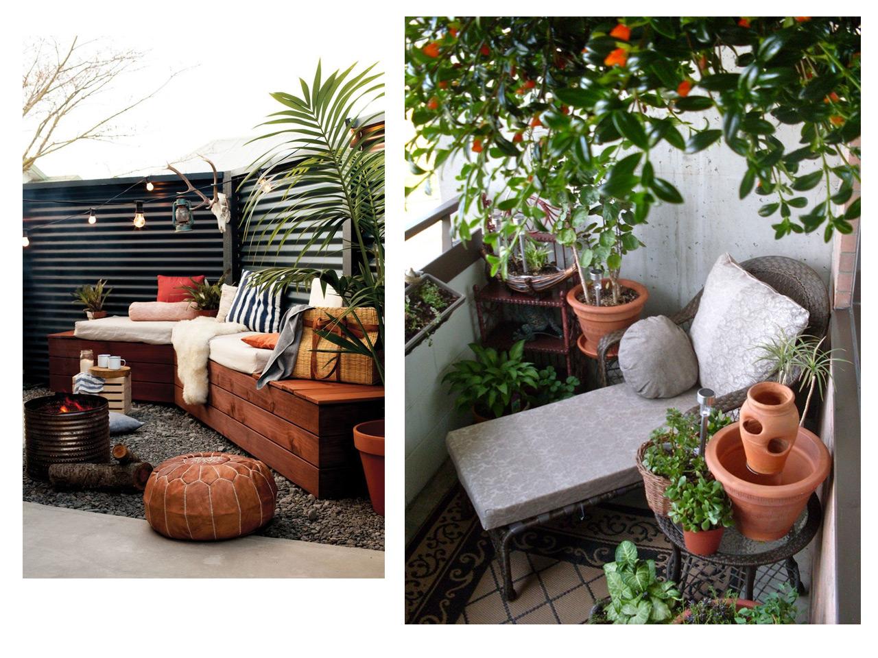 5 consejos para decorar balcones peque os con encanto for Jardines con encanto ideas
