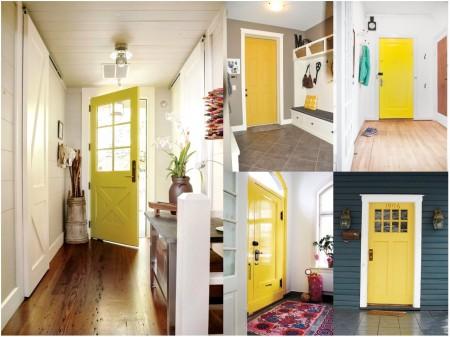 Pintar puertas: entrada amarilla