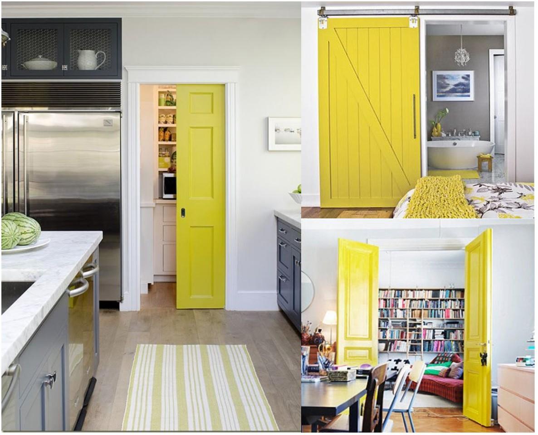 C mo pintar las puertas de casa ideas e inspiraci n for Muebles de cocina amarillos