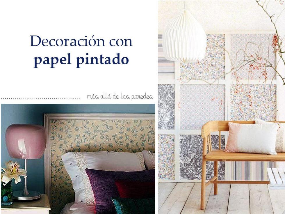 Propuestas diferentes para decorar con papel pintado - Decorar con papel ...