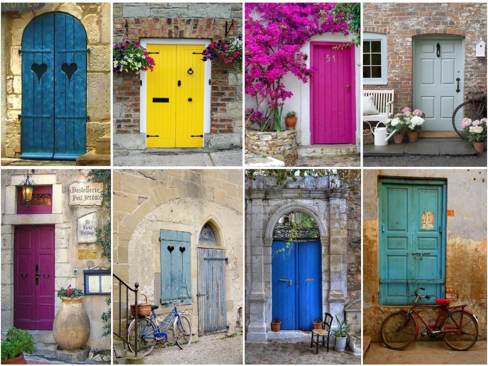 C mo pintar las puertas de casa ideas e inspiraci n - Puertas originales ...