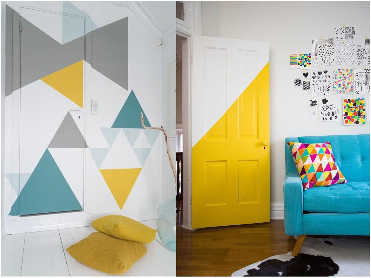 C mo pintar las puertas de casa ideas e inspiraci n - Pintar paredes dos colores ...