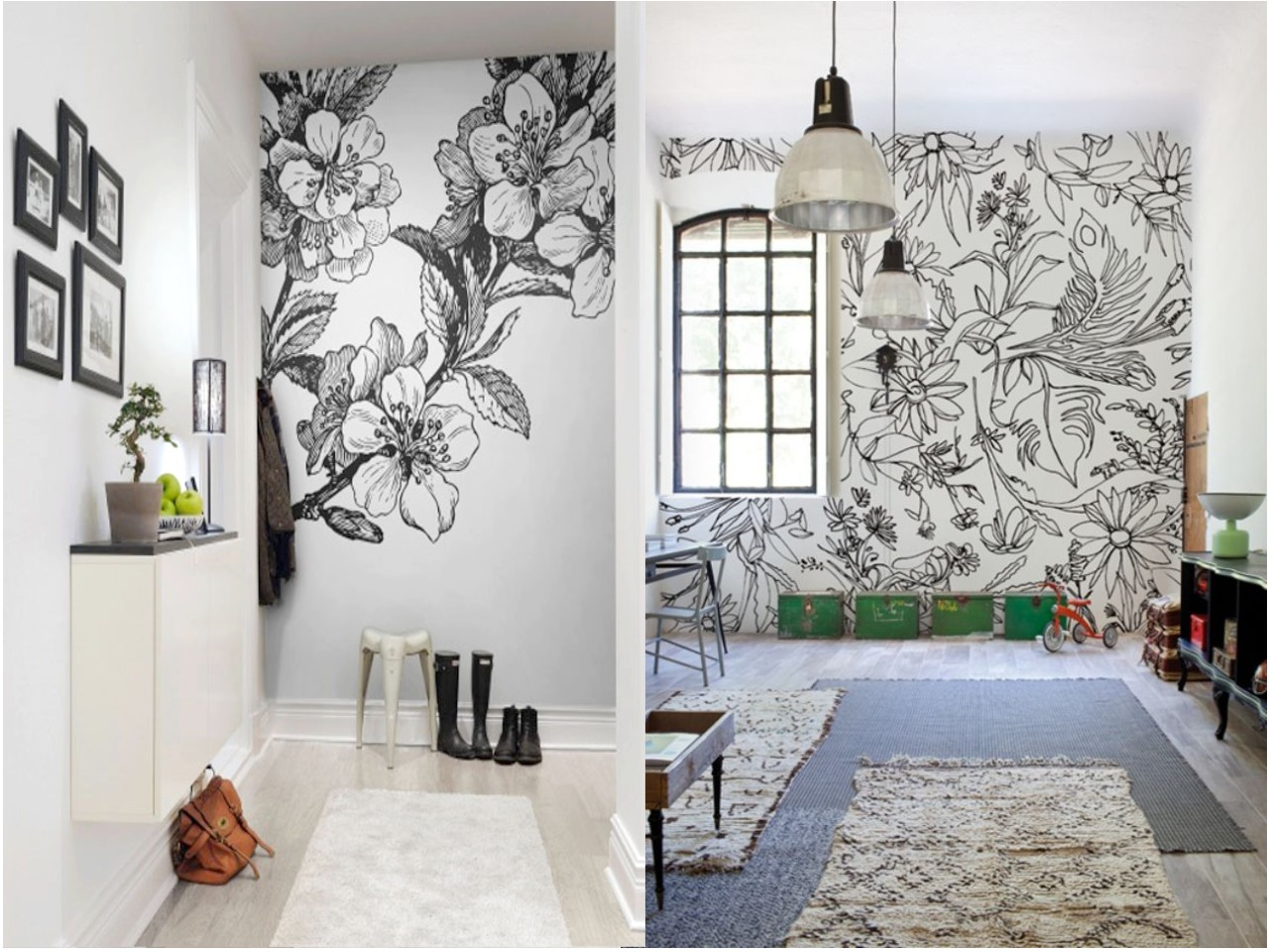 Dale color a tus paredes con vinilos decorativos de flores xl - Decoracion vinilo pared ...