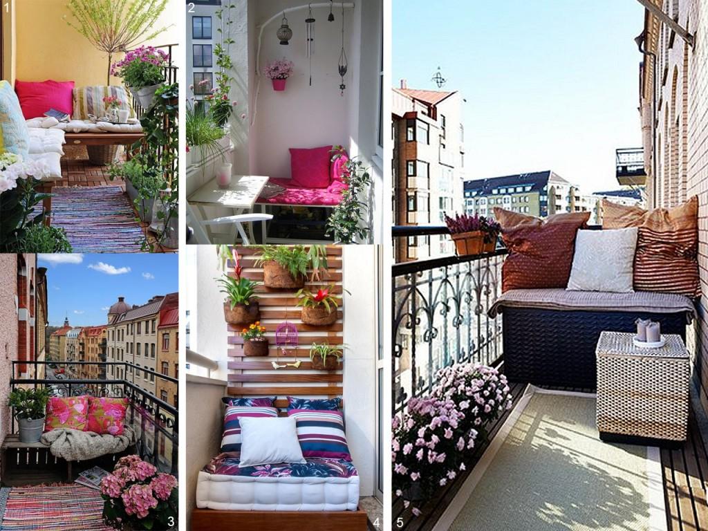 5 consejos para decorar balcones peque os con encanto for Decoracion de balcones navidenos
