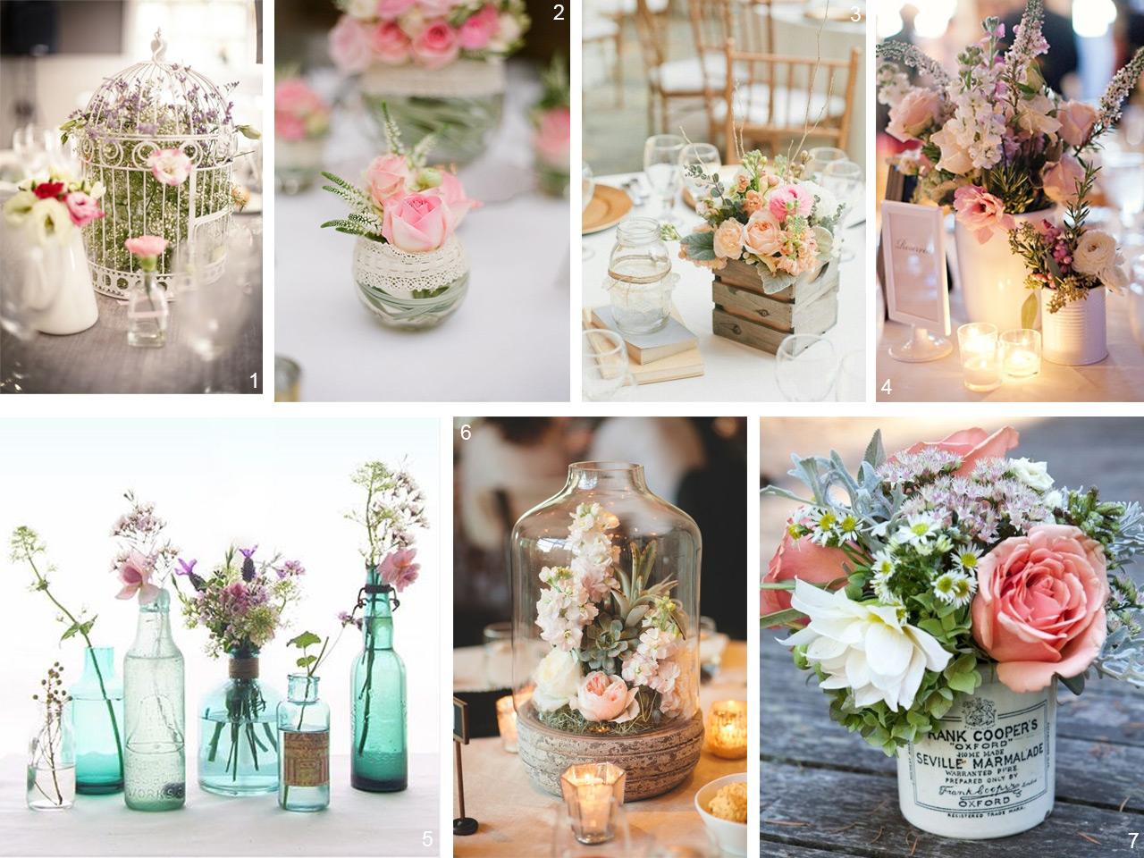 6 estilos diferentes para decorar con centros de mesa for Mesas de centro vintage