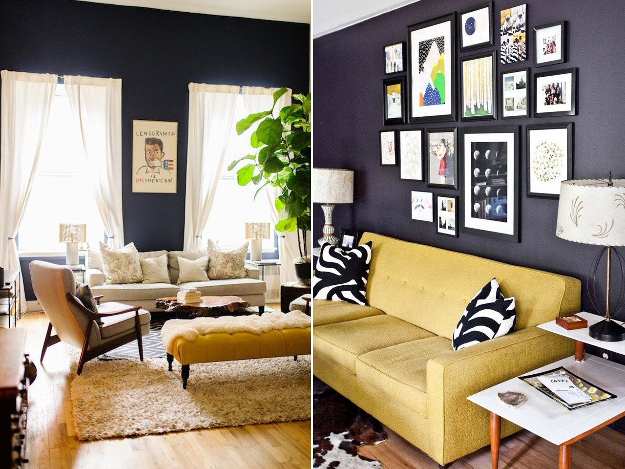 Atr vete con una decoraci n en color mostaza - Colores de moda para salones ...
