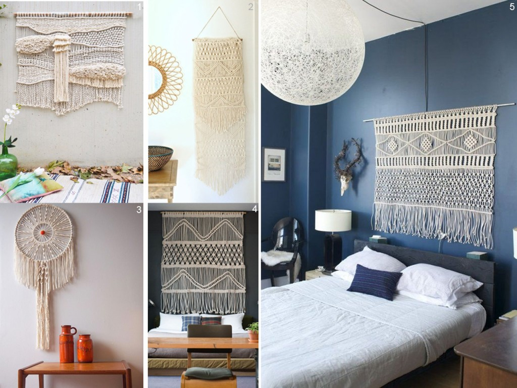 5 ideas para decorar con macram for Decoracion con espejos en paredes