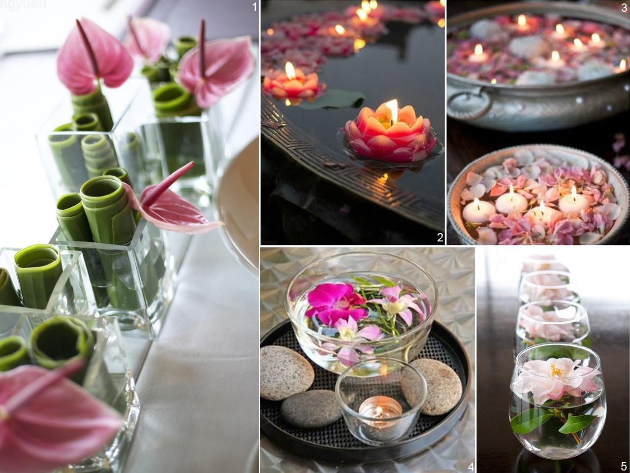 6 estilos diferentes para decorar con centros de mesa for Centros de mesa de comedor
