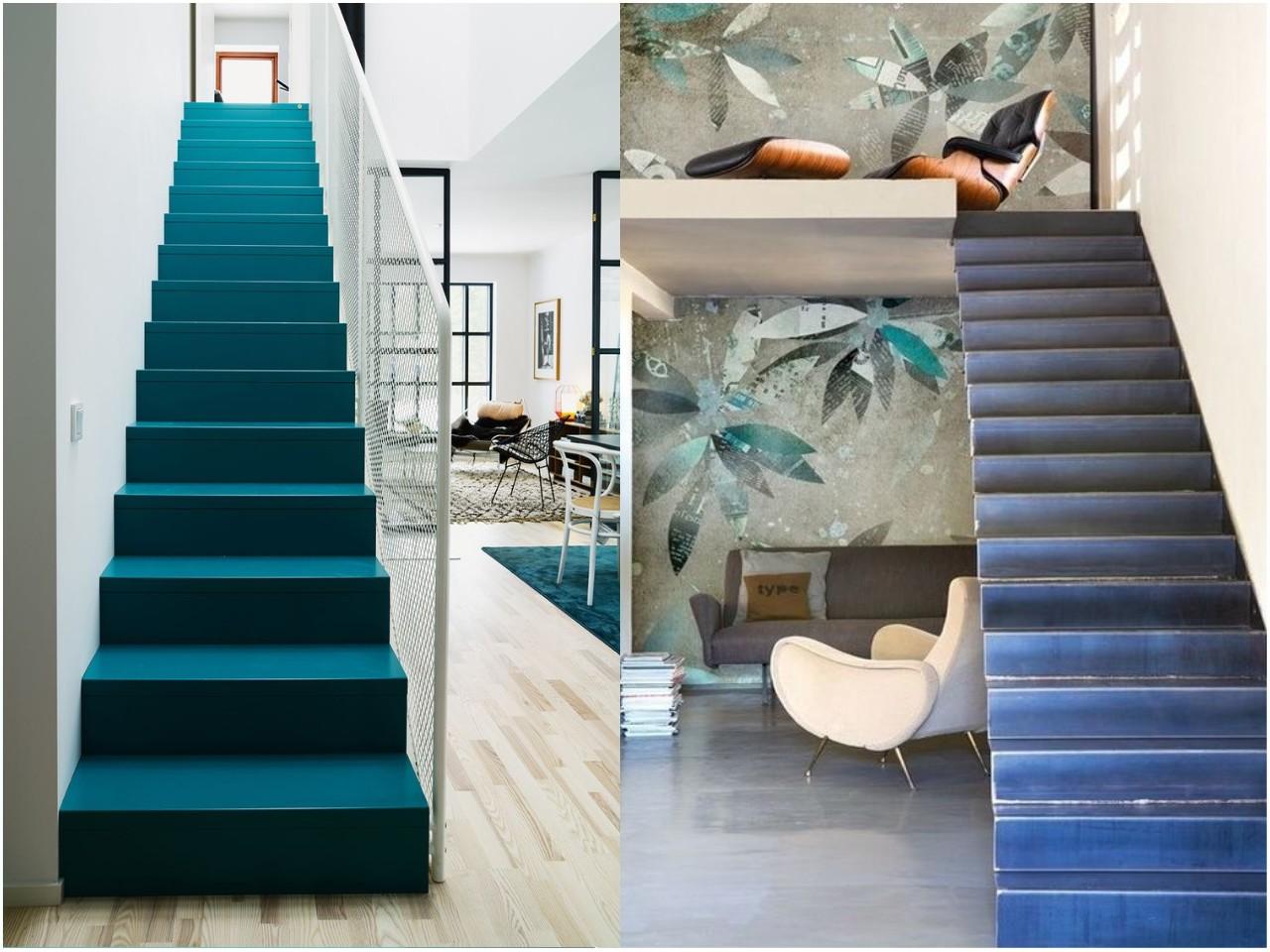 Decorar escaleras originales un paso m s en la decoraci n - Decorar pared subida escalera ...