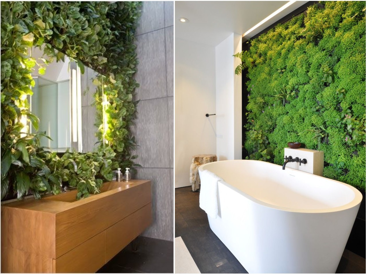 8 ideas trending para decorar ba os con estilo for Ideas para decorar interiores con plantas