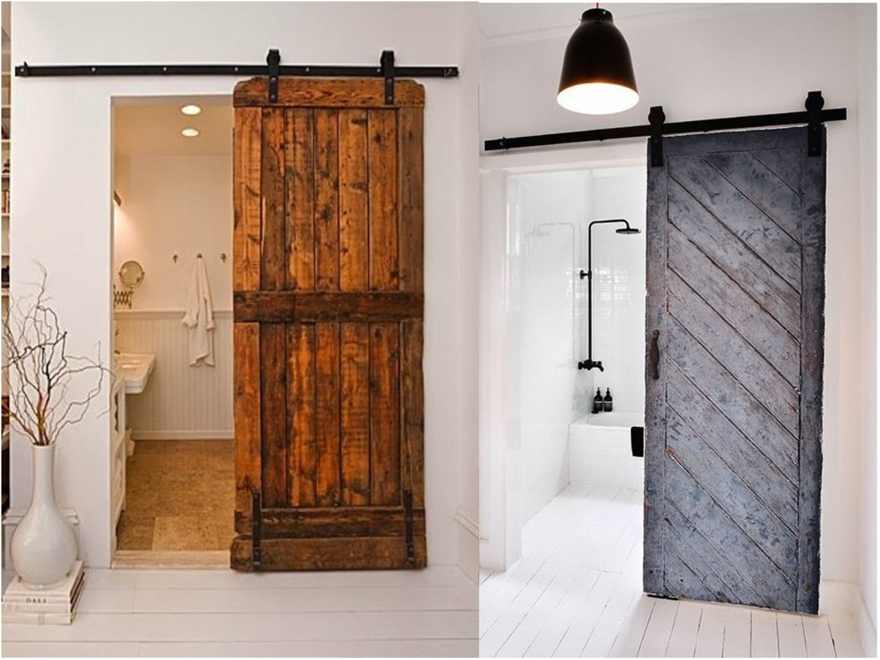 8 ideas trending para decorar ba os con estilo On ideas de puertas correderas