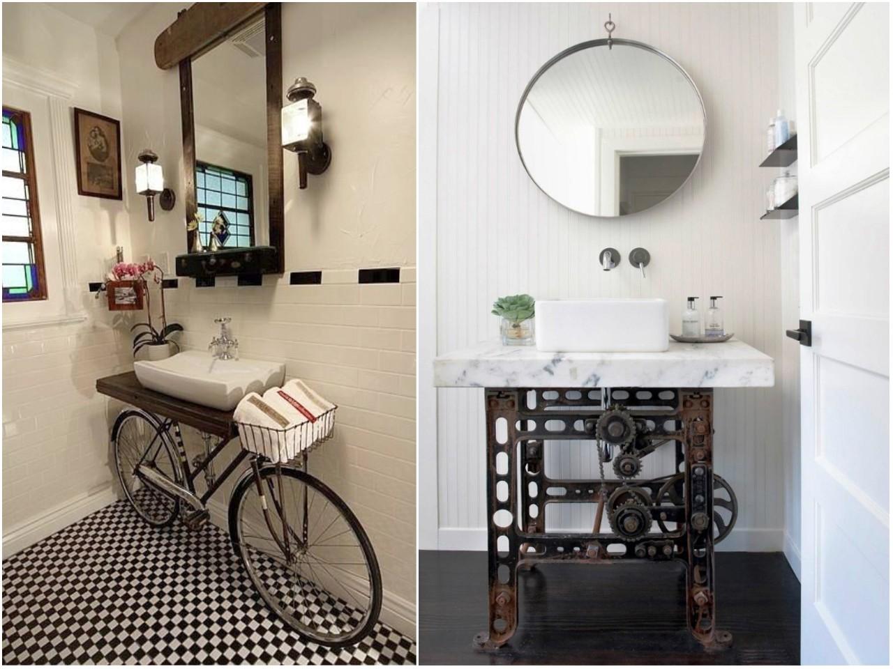 Lamparas Baño Vintage:Ideas para decorar baños: recicla y crea piezas únicas