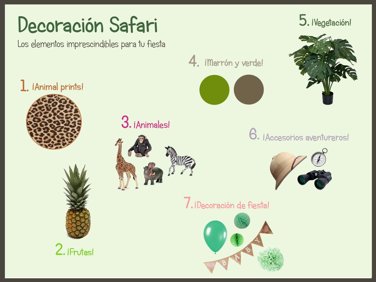 Decoración safari Los imprescindibles de Dicoro