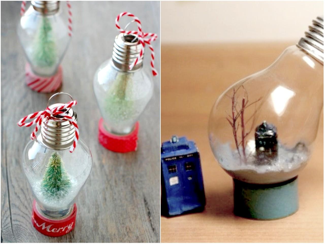 10 ideas de decoraci n con bombillas recicladas - Decoracion con bolas de navidad ...