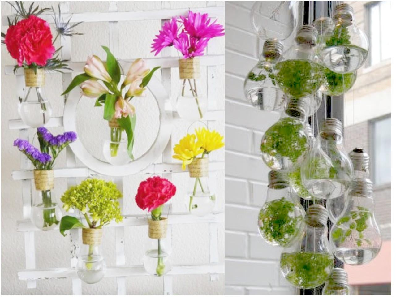 10 ideas de decoraci n con bombillas recicladas for Guarda cosas para jardin