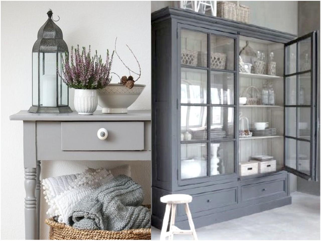 Ap ntate a la decoraci n en color gris - Color paredes para muebles oscuros ...
