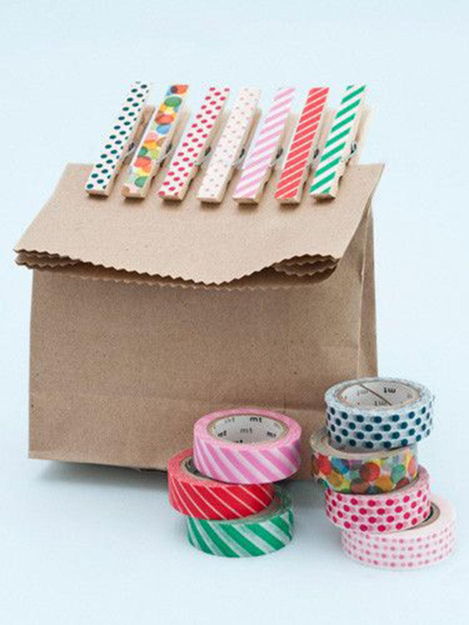 10 propuestas diy para decorar con washi tape. Black Bedroom Furniture Sets. Home Design Ideas
