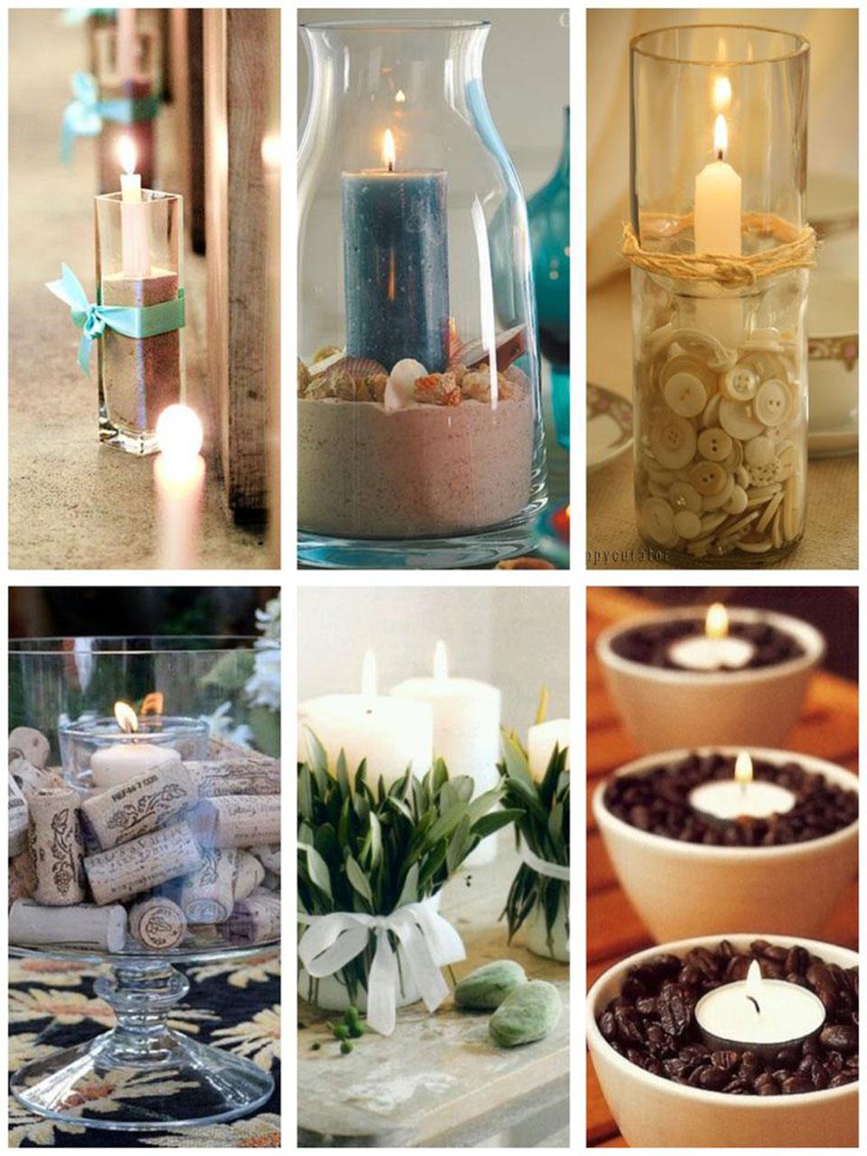 las ideas ms increbles para decorar con velas