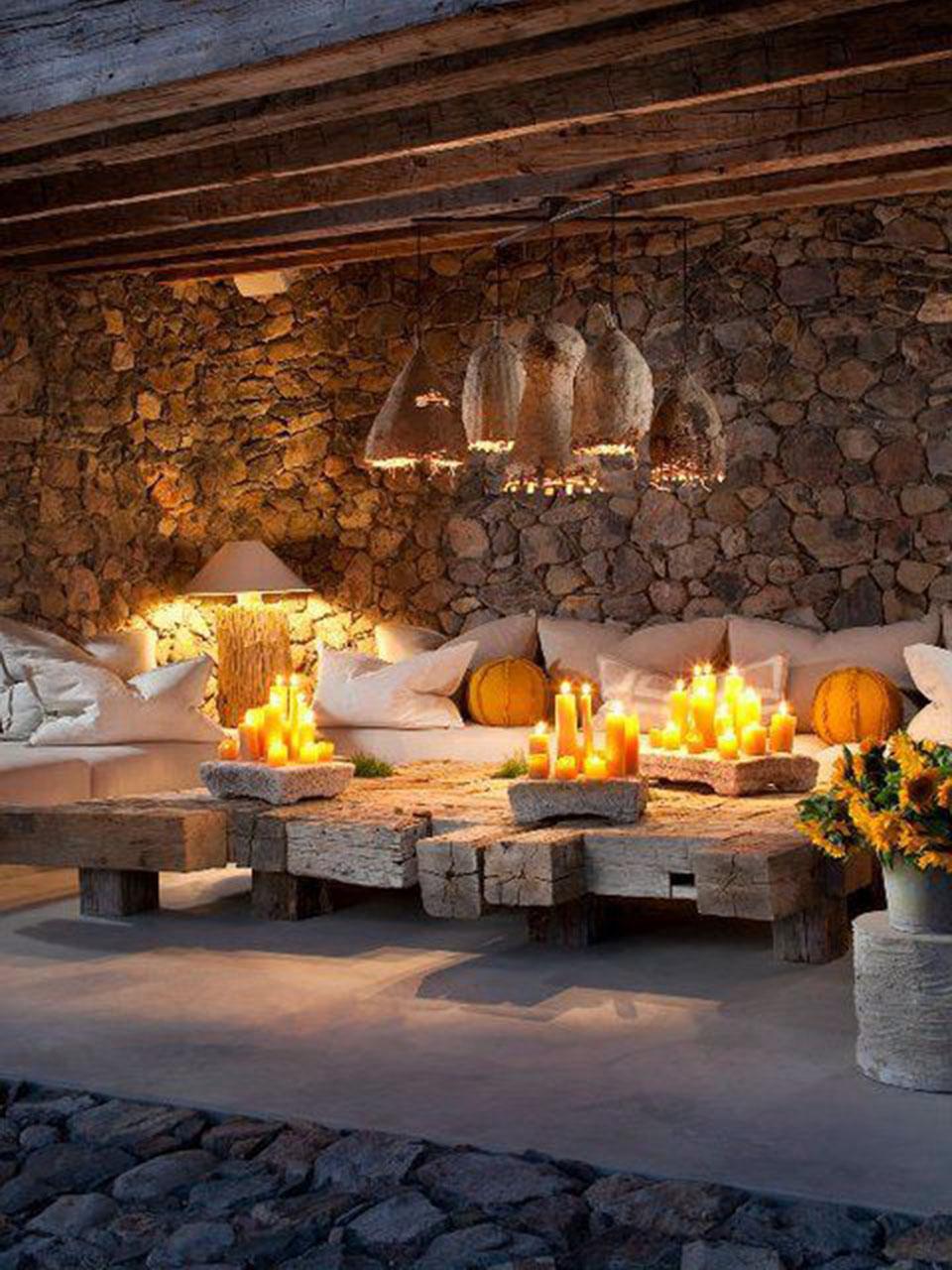 Las ideas m s incre bles para decorar con velas - Vallas decorativas para jardin ...
